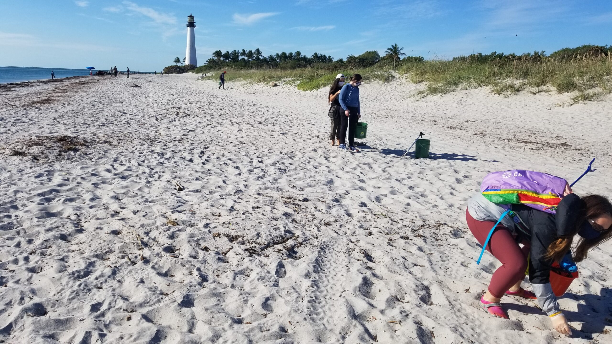 Bill Baggs Cape Florida beach cleanup day January 2021