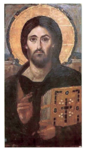 Photo of Christ Pantocrator Sinai Icon is in the Public Domain.