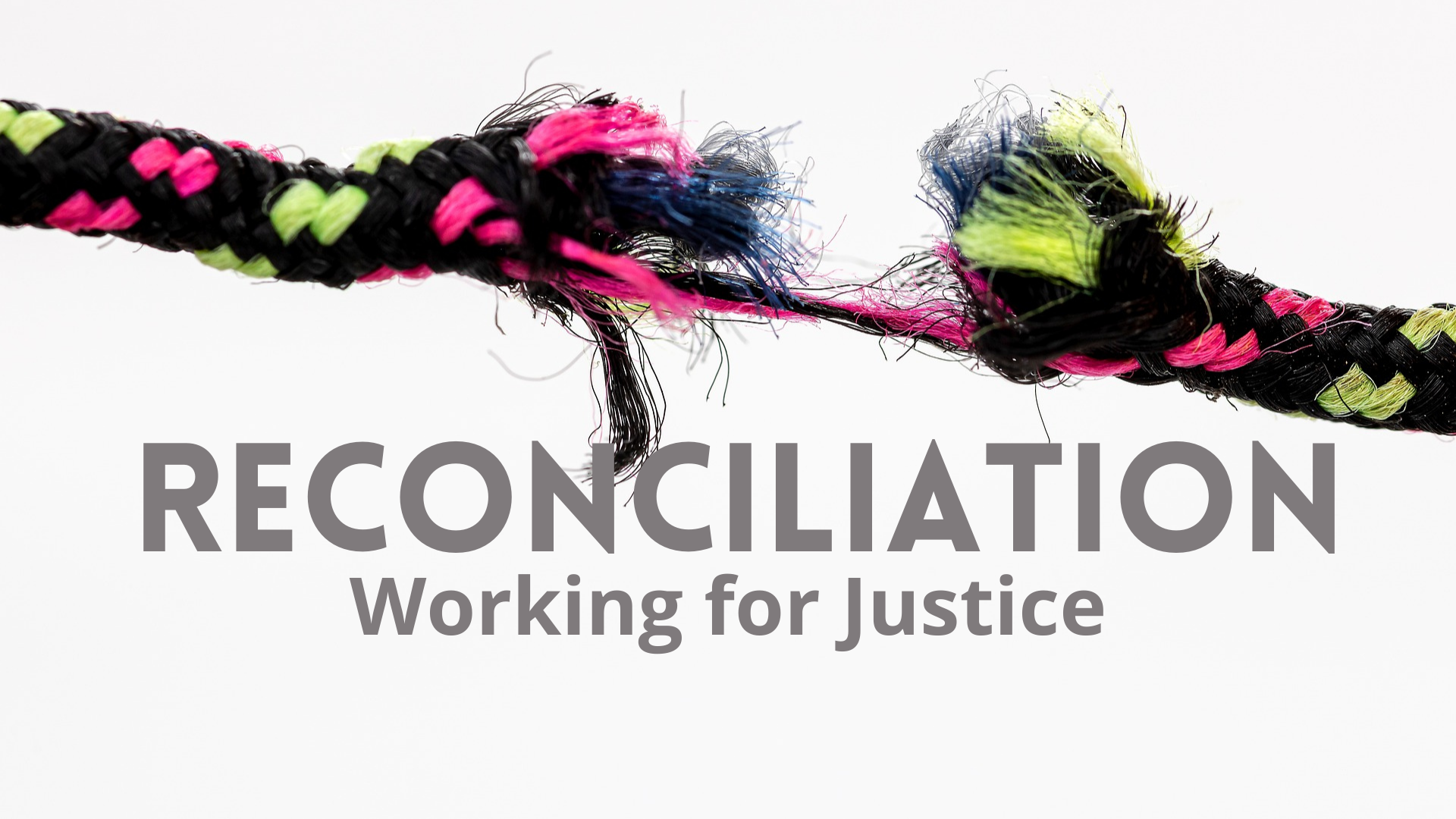 Reconciliation working for justice logo